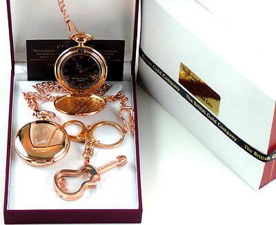 JAM Paul Weller Signed 18k Rose Gold Clad POCKET WATCH & GLASS GUITAR Keyring