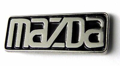 MAZDA SCRIPT EMBLEM AUTOMOBILE CAR EMBLEM LOGO LAPEL PIN BADGE 1 INCH