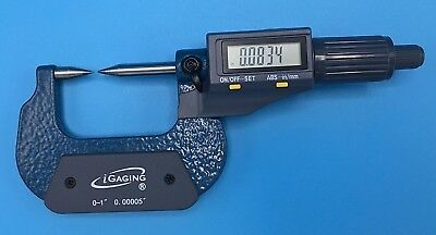 Igaging 35-040-201 Point Micrometer Outside Digital Electronic With Large Displa