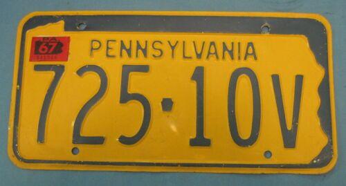 1967 Pennsylvania License Plate