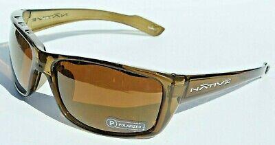 NATIVE EYEWEAR Wazee Sunglasses POLARIZED Moss/Bronze Reflex NEW (Native Sunglasses)