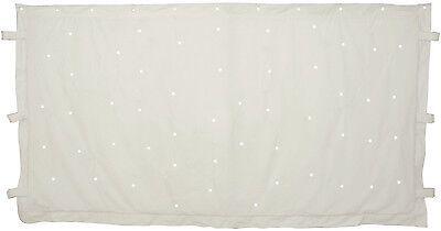1 x 2m WHITE STARCLOTH WITH 96 LED'S DJ STAND CURTAIN BACKDROP STAGE 151.173