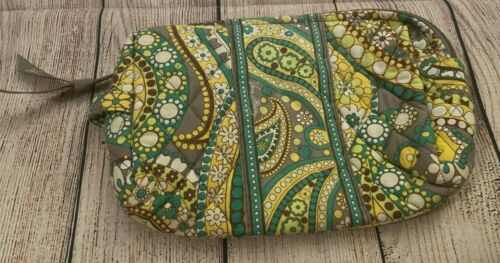 Vera Bradley Cosmetic Bag in Lemon Parfait - Make-up Case - Floral, Paisley