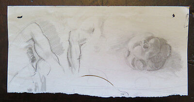 Zeichnung Studio (Zeichnung Original der Maler Gaetano Pancaldi Studio Katalog auf Papier)