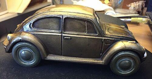 VINTAGE 1977 VW VOLKSWAGEN BRASS PIGGY BANK