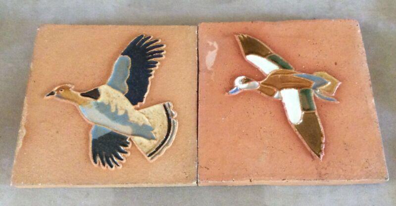 "Two(2) Richard E. Bishop for Mosaic Tile Co. 6"" Tiles"