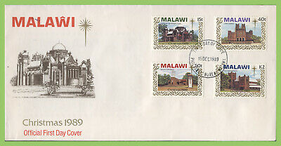 Malawi 1989 Christmas, Churches set on First Day Cover