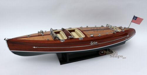 """Typhoon Handmade Wooden Model Speedboat 28"""""""