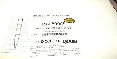 Bioclean Precision Pipette Tips Rt-l5000s 5000ul Lts Tips For Use Rainin 8racks