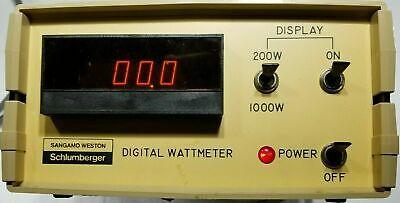 Sangamo Weston Schlumberger Digital Watt Meter Working Tested
