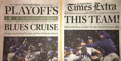 10 20 2017 October Newspaper Oct Los Angeles Times La Dodgers Mlb World Series