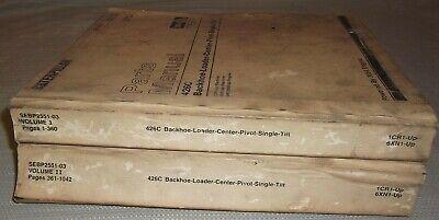 Cat Caterpillar 426c Backhoe Loader Parts Book Manual Sn 1cr1-863 2 Volume Set