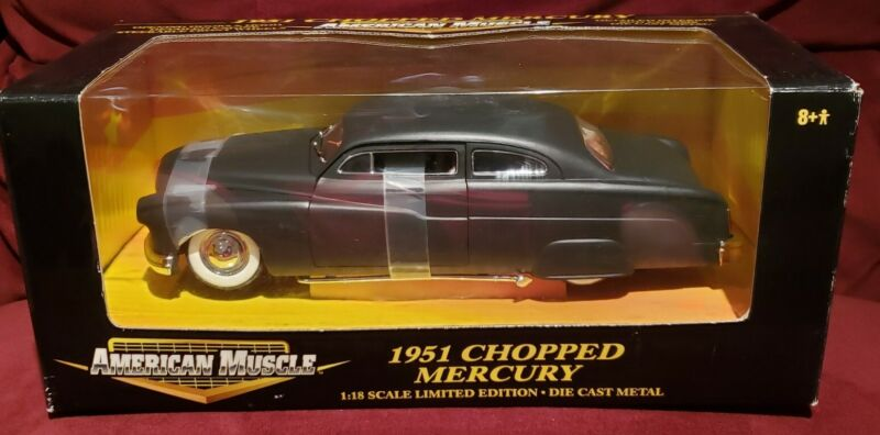 1:18 Scale AMERICAN MUSCLE 1951 CHOPPED MERCURY Die Cast Limited Edition Detail