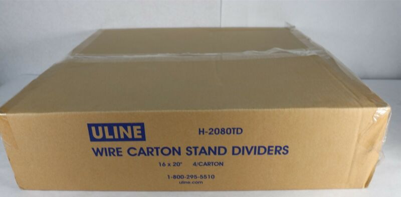 """Uline Wire Carton Stand Dividers (H-2080TD) 16""""x20"""" Tall 4 Count New"""