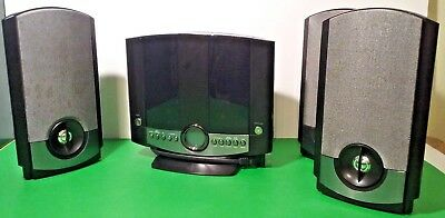 GPX Home Music System CD Player AM/FM Radio Black Model HM3817DT w/3 Speakers