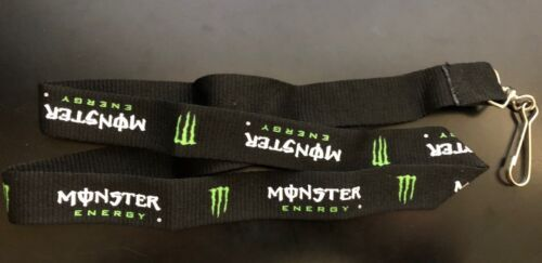 Monster Energy Lanyard Keychain Necklace 17inch long with Metal Clip - Brand New