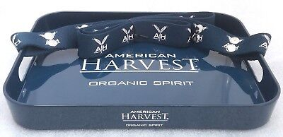 Waitress Bed & Breakfast Serving Tray W Handles & Strap Plastic American Harvest