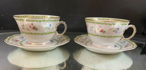 Bernardaud--Artois Vert--(2) Cup and Saucer Sets--Four Sets of (2) Available--