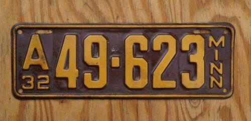 1932 Minnesota License Plate Number Tag