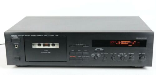 Yamaha KX-330 Natural Sound Stereo Cassette Tape Deck TESTED AND WORKING
