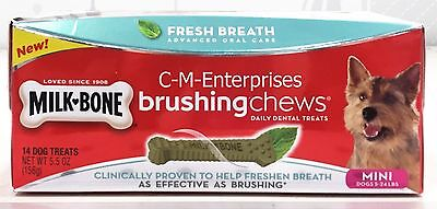 Milk Bone Brushing Chews Fresh Breath Dog Treats For Mini Dogs