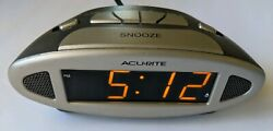 Acurite 13027A1 Alarm Clock With Time Zone Selector, Used, Good Condition.