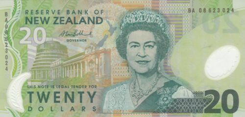 3 NOTES NEW ZEALAND $20 dollars P187 1@SIGN10 2004-08, 2@SIGN 11 2013-14 UNC