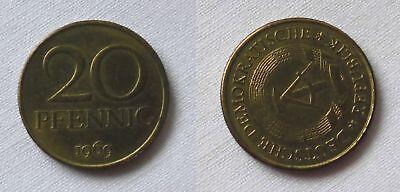 20 Pfennig DDR 1969 Fehlprägung, prägefrisch, Stempeldrehung 120 Grad (123588)