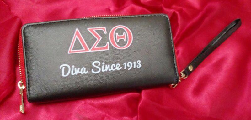 Delta Sigma Theta Clutch Wallet