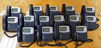 X15 Lot Of Digium D40 Phones Voip Poe Phone No Power Supply Used Condition
