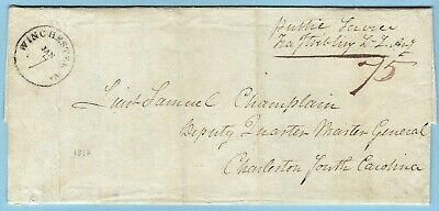 War of 1812 Letter, Francis Stibling, Lt. Light Artillery