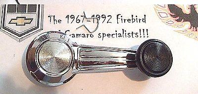 1967 - 1981 FIREBIRD TRANS AM CAMARO WINDOW CRANK HANDLE - CHROME W/ BLACK KNOB