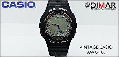 Vintage Casio AWX-10 Speed Memory Twincept QW.1350.WR. 50. AÑO.1995