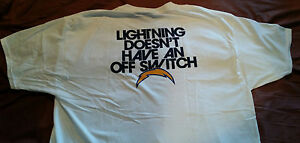 NFL Los Angeles / SAN DIEGO CHARGERS Tee Shirt t-shirt XL CHARGE ON Rivers Fouts