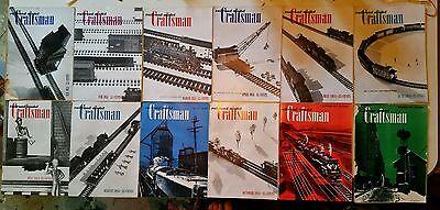 COMPLETE SET RAILROAD MODEL CRAFTSMAN MAGAZINE 1951 - MODEL RAILROADS - TRAINS
