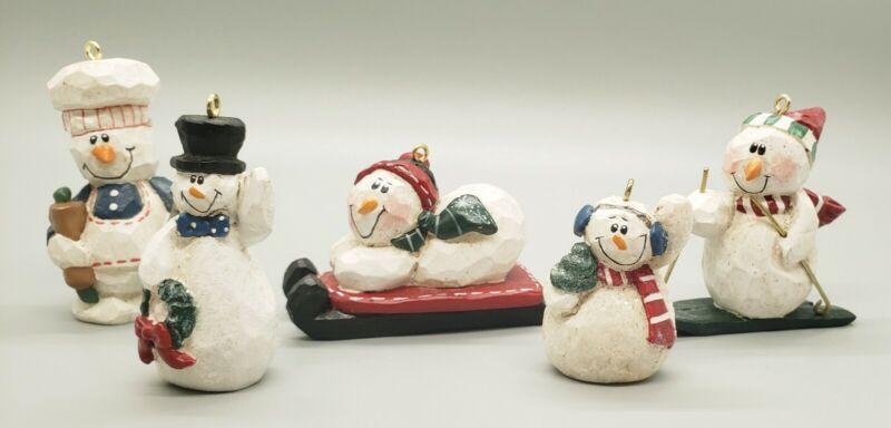 Midwest Of Cannon Falls Eddie Walker EW 5 Snowman Ornaments