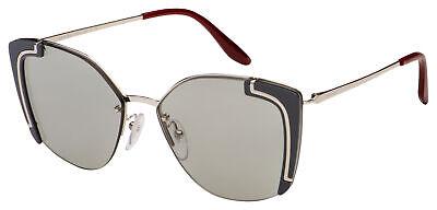 Prada Sunglasses PR 59VS 4295J0 64 Silver / Grey | Grey (Polycarbonate Lens Vs Plastic)