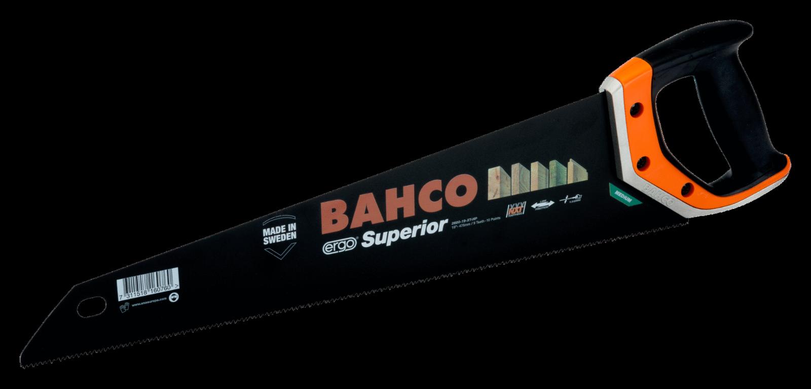 BAHCO Superior 2600 Fuchsschwanz-Säge Handsäge Holzzsäge 550mm NXT Verzahnung
