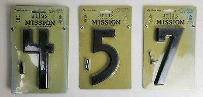 Atlas Homewares Mission House Numbers Aged Bronze 5.375