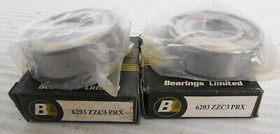 2 Bearings Limited 6203zzc3 Prx Radial Ball Bearing