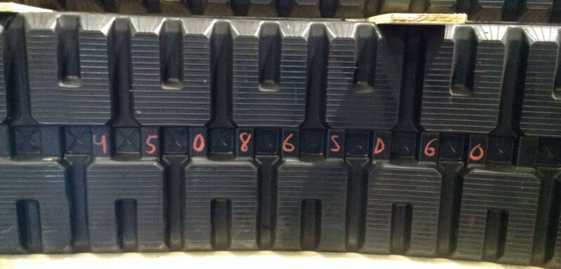 (2-tracks) Caterpillar Rubber Track Cat 279c 289c 299c 299d 450x86x60 4508660