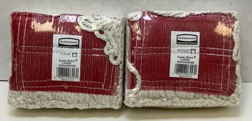 Rubbermaid (D25306WH00) Commercial Super Stich Blend Mop, Large, White, Lot of 2