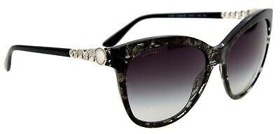Bvlgari Damen Sonnenbrille  8158 5366/8G 57mm Schwaru transparent  BP 154 T18 (Bvlgari Sonnenbrille Damen)