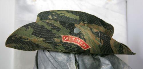Original Vietnam Tiger Stripe Boonie Camo Special Forces Bush Hat Advisor RVN
