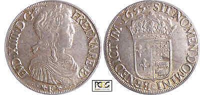 Click now to see the BUY IT NOW Price! LOUIS XIV 1643 1715   ECU DE BARN  LA MCHE LONGUE   1655 F PAU