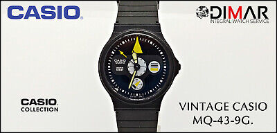 VINTAGE CASIO MQ-43-9G. CASIO QUARTZ. QW.371.JAPAN WR. AÑO.1987.