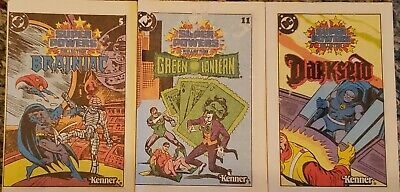 Vintage DC Super Powers Green Lantern, Brainiac & Darkseid 1983 Comic Booklets