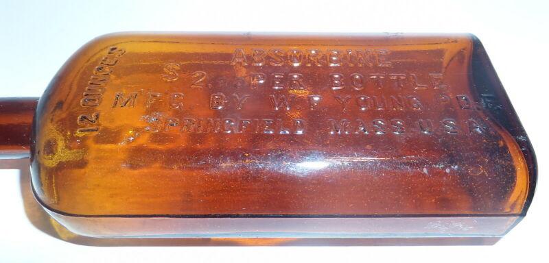 Vintage Bottle Amber Absorbine 12 oz  (S4)