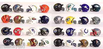 NFL Licensed Mini Small Football Team Logo Helmets (Pencil Toppers)  - Small Football Helmets