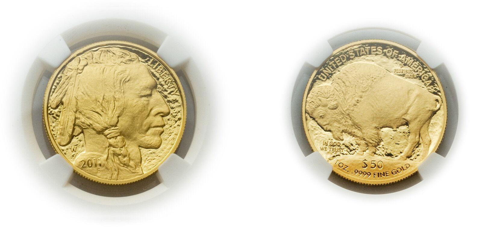 Usa 2011 W Buffalo 50 Dollars Gold 1 Oz Coin Ngc Pf 69 Ebay